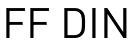 FF Din Ελληνική Γραμματοσειρά