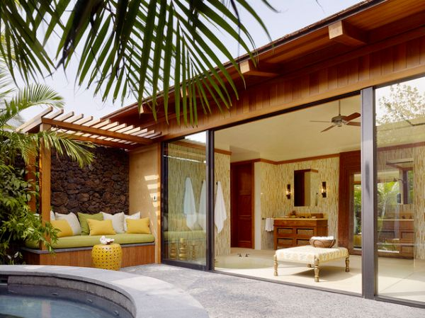 Sliding Glass Doors Open Up Leading Into A Stunning And Soothing