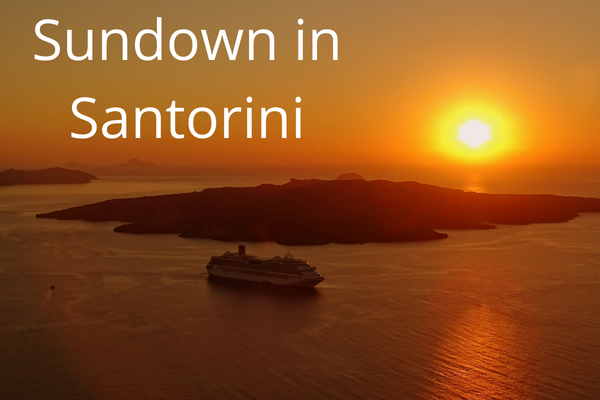 Sundown in Santorini