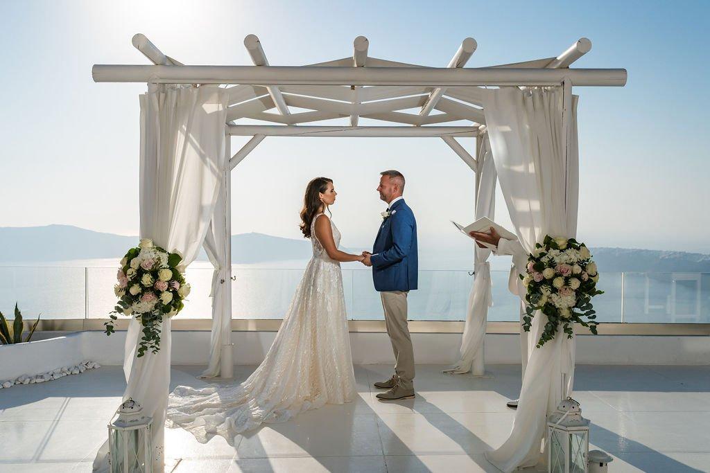 Santorini Vows Wedding